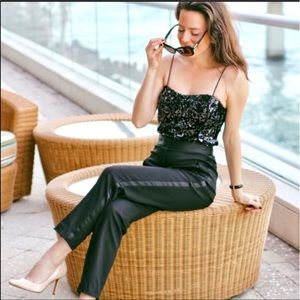 ZARA black jumpsuit with sequins